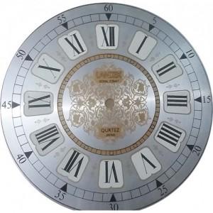 صفحه ساعت دیواری سایز صفحه22.5 سانتی فلزی سفید کد 177