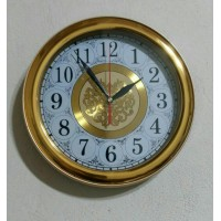 ساعت گرد طلایی صفحه دورنگ قطر ۲۸ سانت کد 565