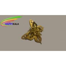 پروانه بزرگ فلزی طلایی