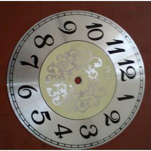 صفحه ساعت نقره ای سایز 19